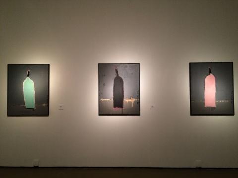《瓶子 2014-4、3、5》 100×80cm 油画 2014