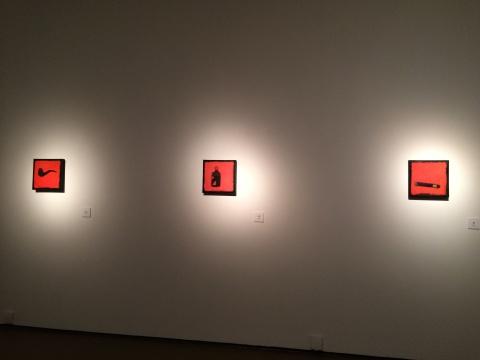 《烟斗》、《茅台》、《雪茄》 30×30cm 布面油画 2014