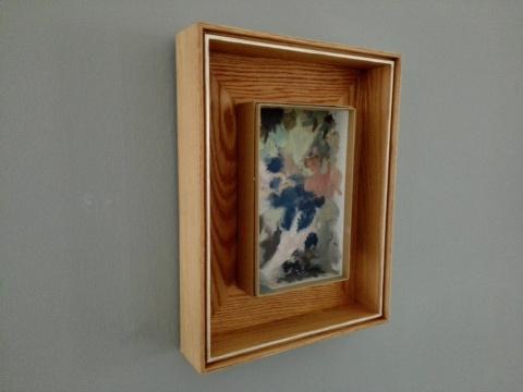 《剪葡萄》 30×20cm 纸盒油画 2014