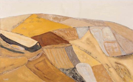 Lot435 尚扬《大风景—秋塬》 87×130cm 布面油彩 1995 估价:120-150万
