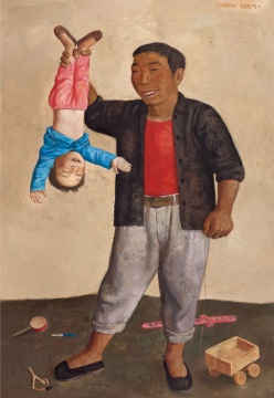 Lot456段建伟《亲爱的叔叔》159.8×110.2cm 布面油彩 1997估价:25-35万