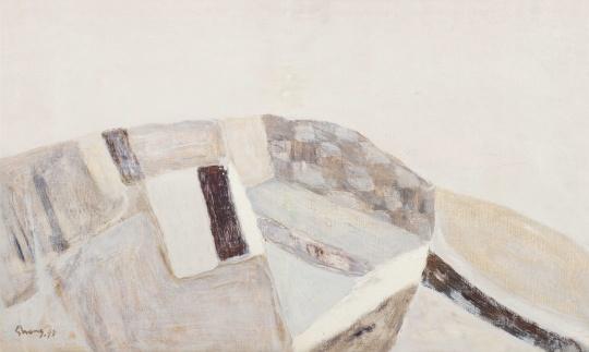 Lot433《银色风景》49.5×82.5cm 1998年 估价:35-50万
