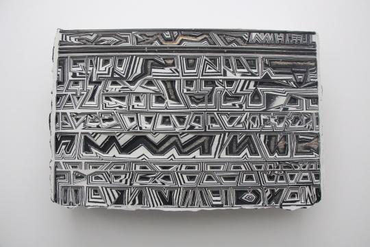欧劲 《无题14》84×104cm 木板、丙烯、辅料 2015