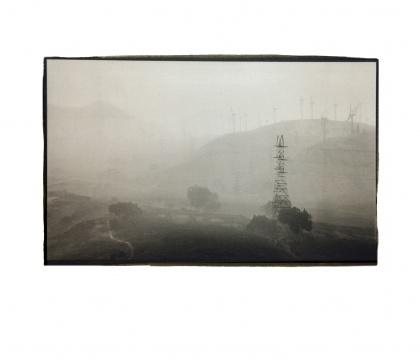 《雨中的公路》25.4x15.3cm铂金印相2014