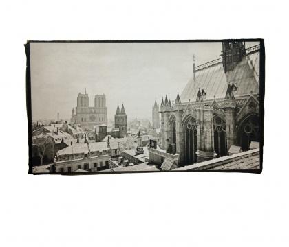 《远望巴黎圣母院》25.4x14.4cm铂金印相2014