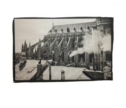 《巴黎圣母院的上午》 25.4x16cm铂金印相2014