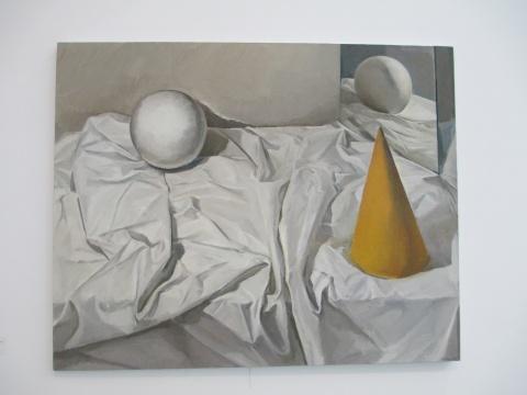 《几何体、镜子和 衬布》