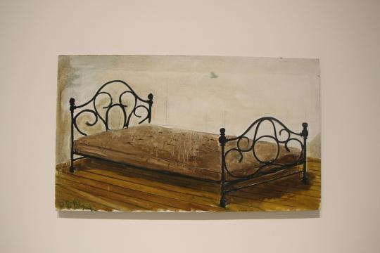 张恩利 《床》70×119cm 布面油画 2008