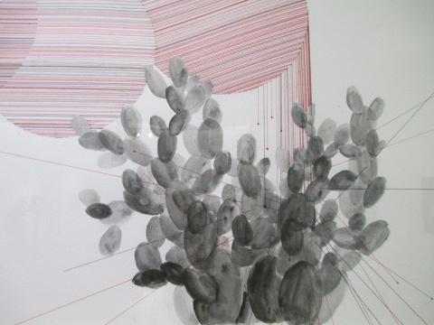 朱玺《罅隙倥偬系列1》纸本绘画