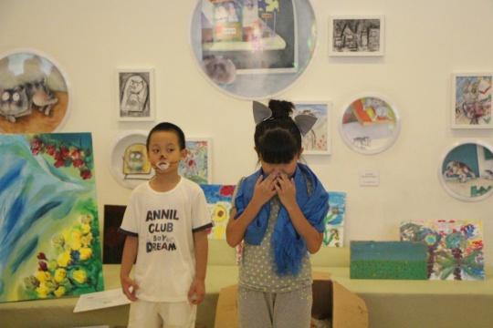 来自深圳和嫣然的孩子们共同演绎童话剧《没鼻伙计》
