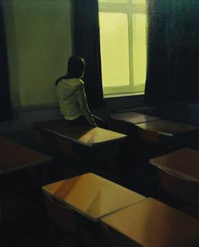 【尹朝阳奖】杜汇 《我在曾经温暖过我的阳光下温暖我》 布面油画110×90cm 中央美术学院 2014