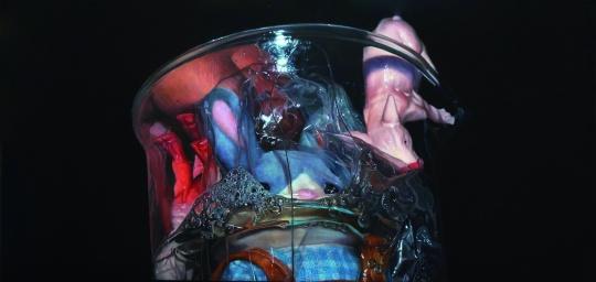 【武艺奖】张为之 《淹死这只兔子》 40x80cm 布面油画首都师范大学美术学院 2015