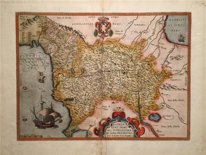 亚伯拉罕.奥特利乌斯作于1610年的铜板彩绘作品《佛罗伦萨图》
