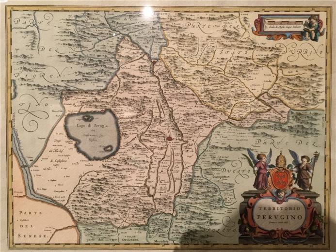 另一件来自琼.布劳的地图作品,在17世纪,荷兰成为主要的海军及商业强国,地图反映其当时在欧洲的综合国力,当时很多荷兰地图都是个家族企业的作品。