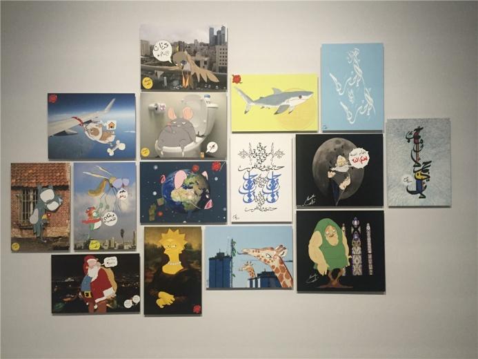 Ibraheem Alawamleh 40幅 铝板印刷作品《插画》