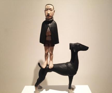 杜春风 《驯兽师》110 × 62 × 20cm香樟木 2013