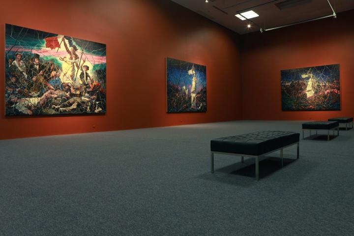 """""""曾梵志——卢浮宫计划""""在香格纳北京空间的展览现场"""