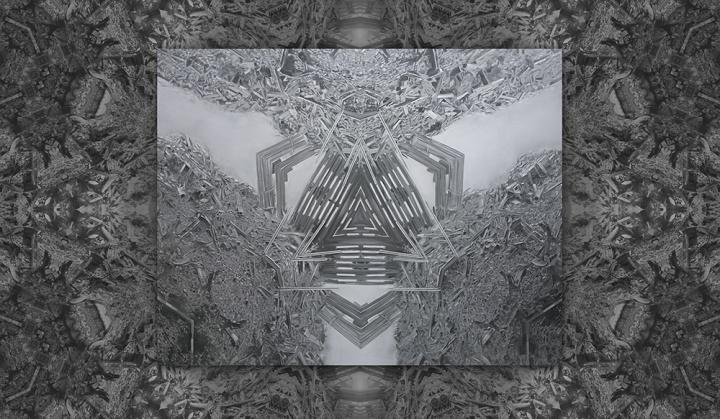特别项目:谢曹闽 《曼荼罗8号》 布面油画 多媒体投影 210 x 275cm 2009  由艺术家信托基金提供