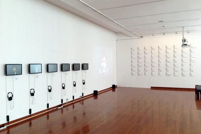 特别项目:杨嘉辉 《牢记崔斯坦和弦》 6屏影像 墙面文字  2013  由APT Institute提供