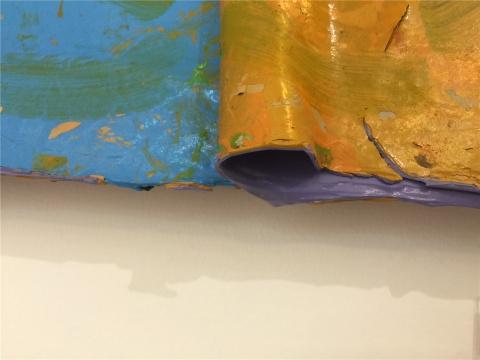 鞠婷另一件作品《+-072815》的局部