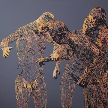 缪晓春《零度怀疑》  800×800cm 布面丙烯2015