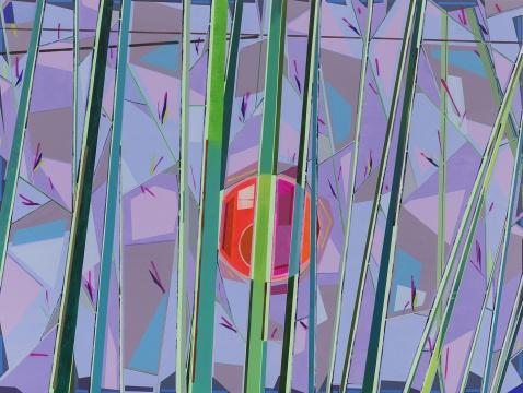 《竹林》300×400 cm布面丙烯,喷漆 2015