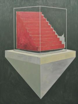 李昌龙《上一个台阶》160cm×120cm 布面油画 2015