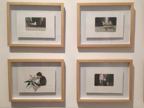 梁浩水彩作品中带有电影情节的叙事感