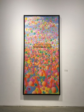 方力钧 《2010》 布面油画 270×120cm 2010
