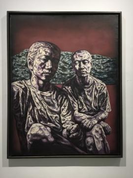 何森 《堆积无语》180×140cm 布面油彩 1996