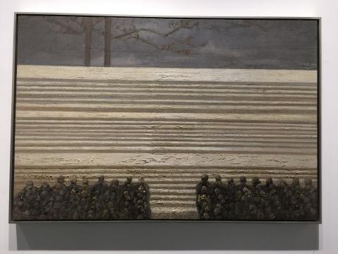 何杰 《人民的舞台》 100×150cm 布面油画 2015