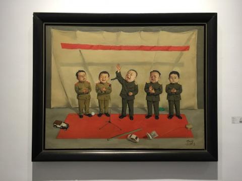 唐志冈 《儿童会议》 114×146cm 2000