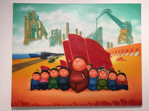 潘德海《火红的年代10号》200×250cm 布面油画 2007