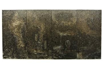 塔可《碑录图》每件100 x 80 cm,共四件 布面丙烯和墨 2015