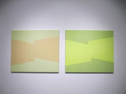 陈丽珠 《空间系列No.29》、《空间系列No.29》130×150cm 布面油画 2014-2015