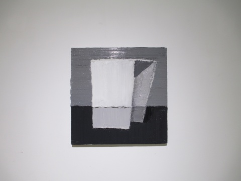 赵新宇 《几何》 40×40cm 布面油画 2015