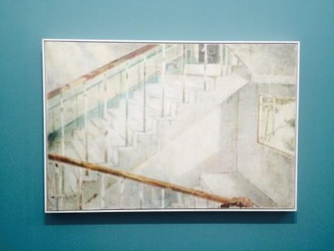 夏禹 《楼梯间》 80×120cm 木板坦培拉 2014