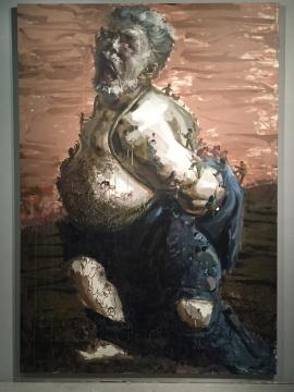 《被束缚的奴隶》 300×200cm 布面油画 2008