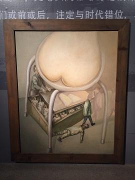 《隐私》100×80cm 布面油画 1996