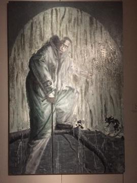 《踏上孤岛》 300×200cm 布面油画 2008