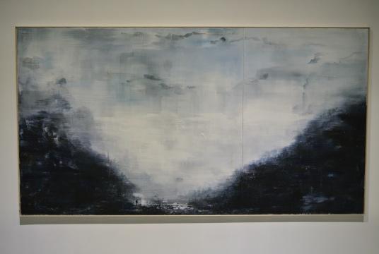 朱贤巍《寒山道》150×280cm 布面丙烯 2015