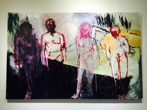 2015年新作 油画《群体意识》