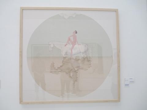 清华大学学美术学院 丁葒 《向南飞》 直径180cm 绢本设色 赞助人特别奖