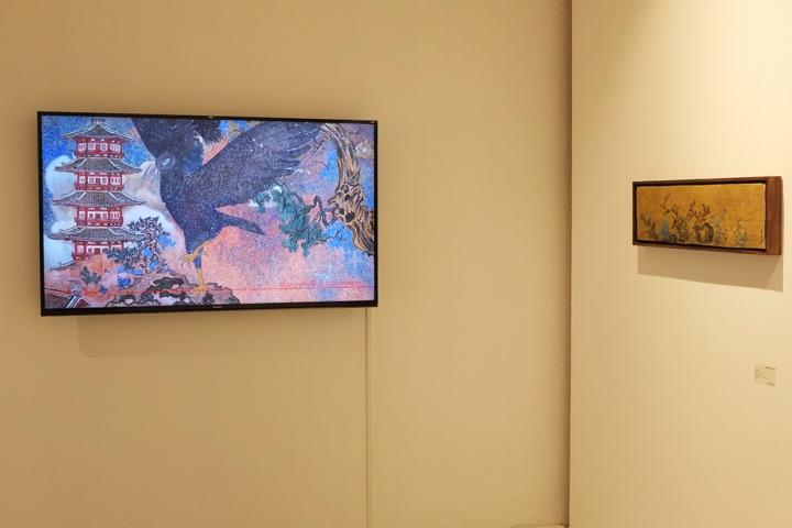 汤柏华的动画作品《夏虫国》,耗费两年创作时间完成,八个版本,每件作品售价在5万元。