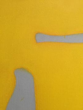 作品细部,可以看出颜料叠加的痕迹