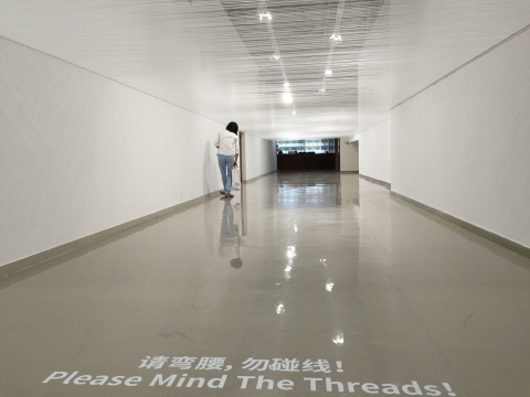 作品《1.62M》创作于2003年,这件装置作品在新的空间重新焕发生命力
