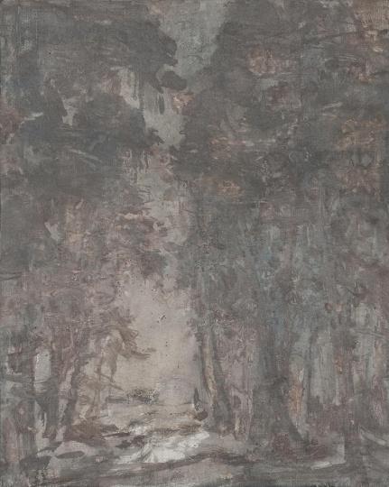 王亚彬 《忘忧路》 布面综合 82 x 65cm 2014 aye画廊提供