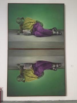 《纳西索斯》 160×200cm×2 布面油画 2015