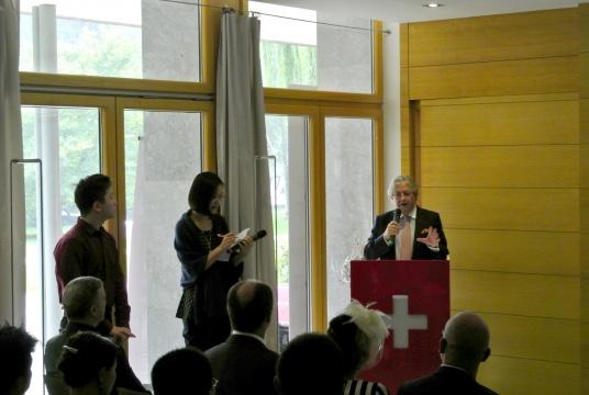 瑞士驻华大使Jean-Jacques de Dardel开场致辞