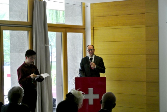 瑞士凯兰帝CEO Jean-Francois De Saussure讲话